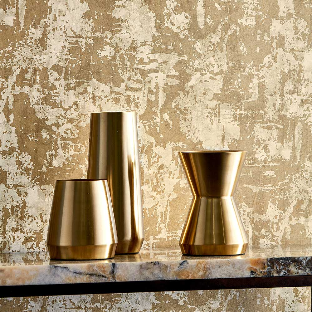 Anthropic Wallpaper - Sandstone and Gold - by Anthology
