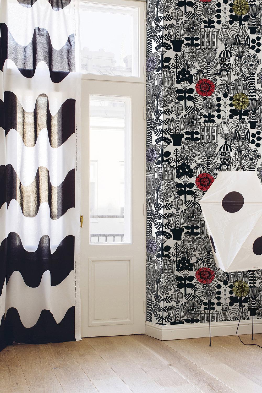 Marimekko Lintukoto Black & White Wallpaper - Product code: 23306