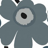 Marimekko Unikko Steel Blue Wallpaper