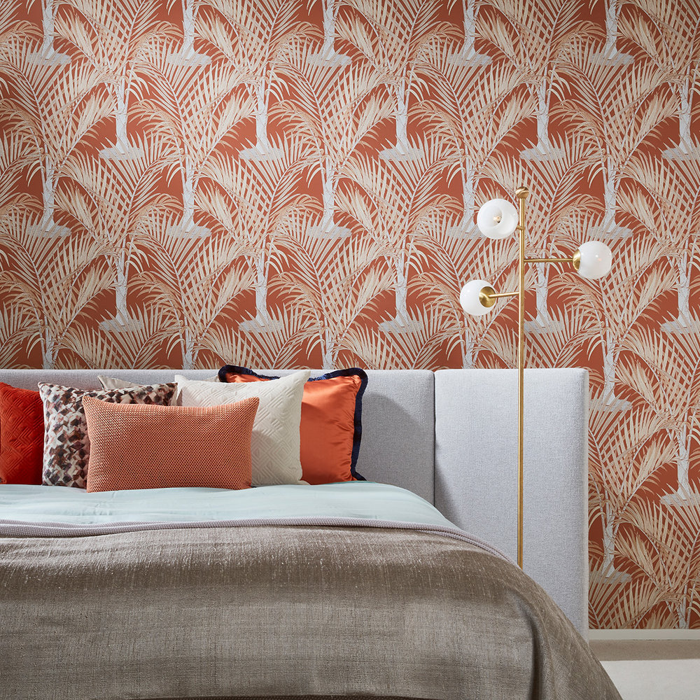 Hooked on Walls Palma Rust Wallpaper - Product code: 36530