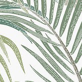 Hooked on Walls Palma Green / White Wallpaper - Product code: 36531