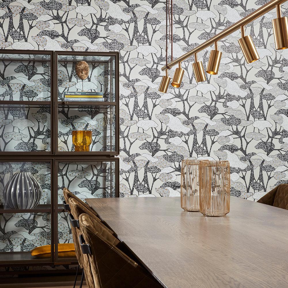 Hooked on Walls Botany Greys Wallpaper - Product code: 36540