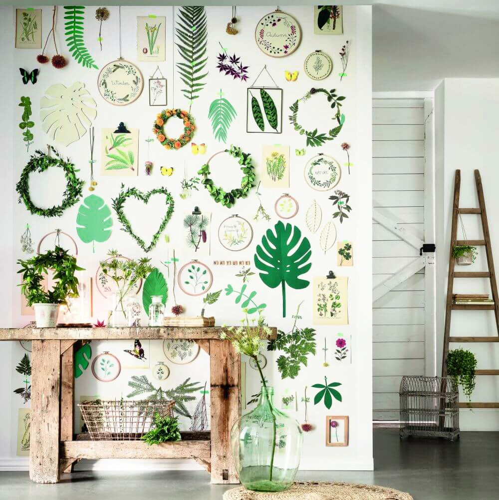 Green Life Panel Mural - Multi - by Caselio
