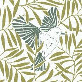 Caselio Birdy Green Wallpaper - Product code: SNY10023 70 06