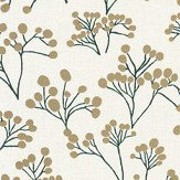 Caselio Poppy Metallic Gold Wallpaper