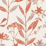 Caselio Laura Orange Wallpaper