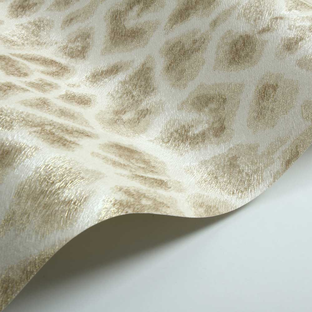 Giraffe Faux Fur Wallpaper - Gold/ Light Beige - by Albany
