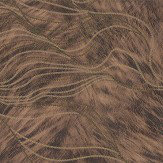 Albany Wave Fur Effect Brown Wallpaper - Product code: 88711