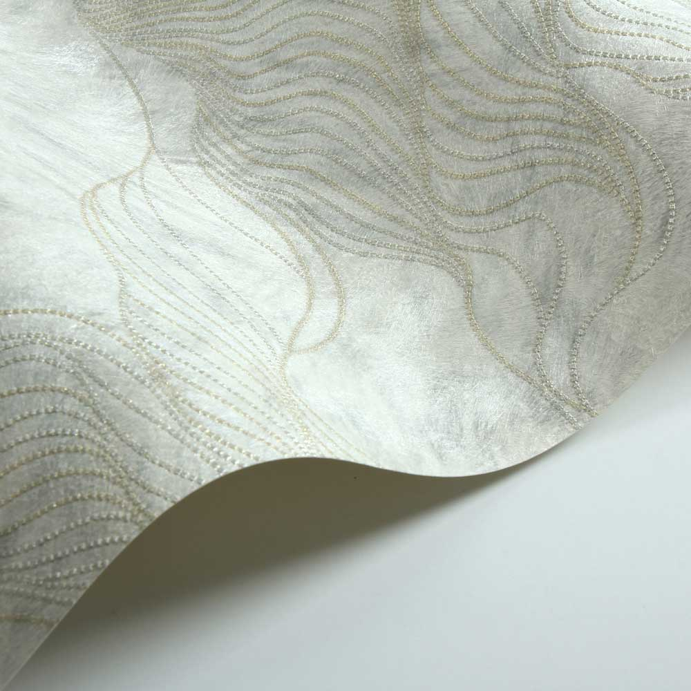 Wave Fur Effect Wallpaper - Cream - by Albany