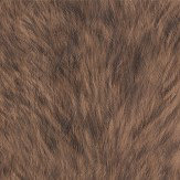 Albany Wolf Fur Faux Brown Wallpaper