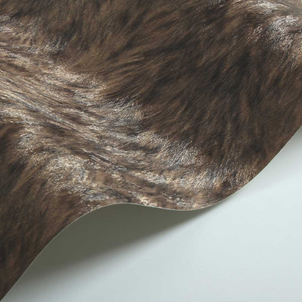 Wolf Fur Faux Wallpaper - Brown - by Albany