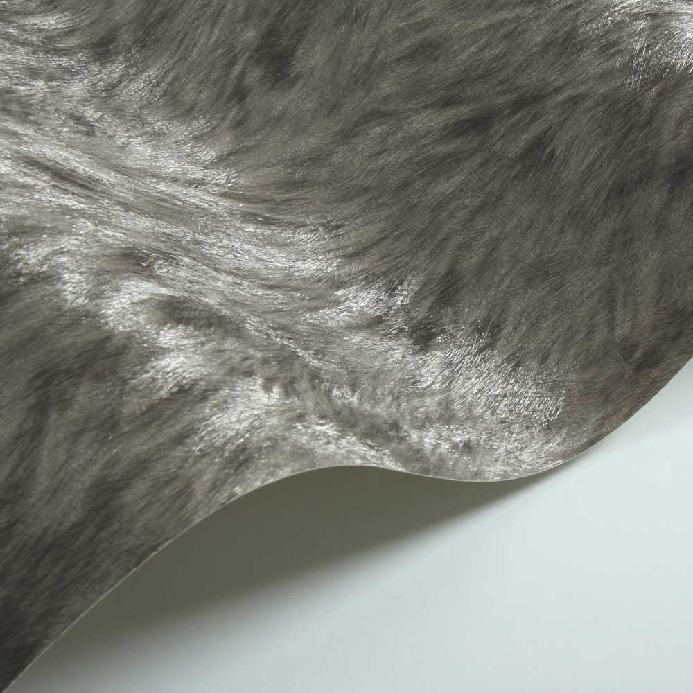 Albany Wolf Fur Faux Dark Coffee Wallpaper - Product code: 88713