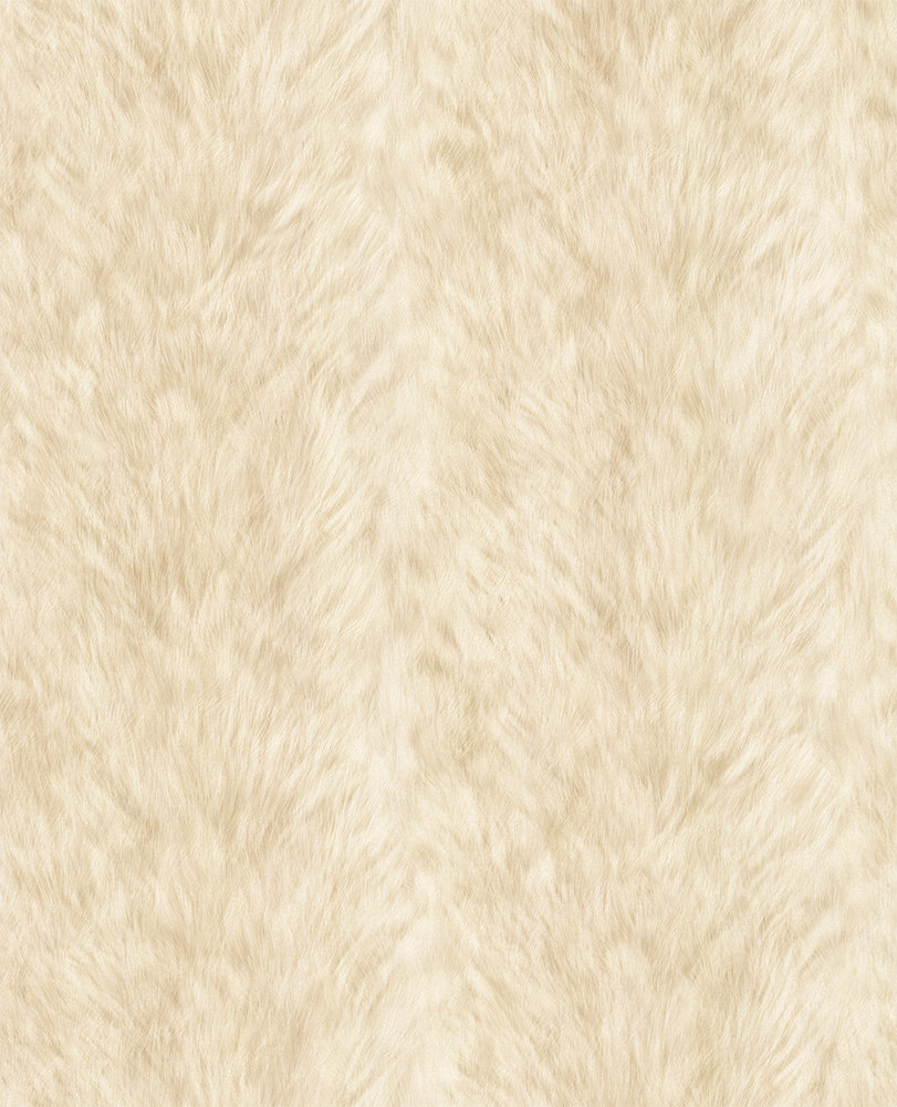 Albany Wolf Fur Faux Light Yellow Wallpaper - Product code: 88718