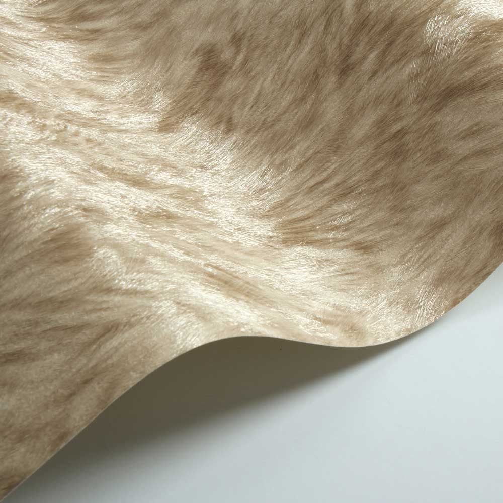 Wolf Fur Faux Wallpaper - Beige - by Albany