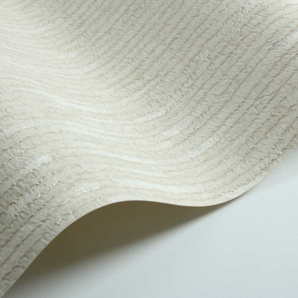 Stripe Fur Effect Wallpaper - Cream - by Albany