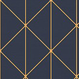 Engblad & Co Diamonds Dark Blue and Gold Wallpaper