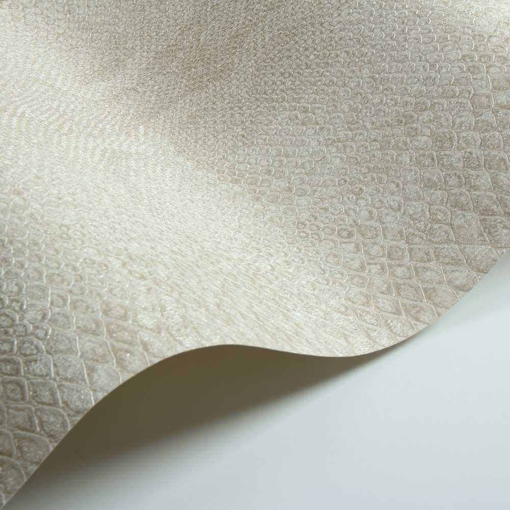 Python Skin Faux Wallpaper - Beige - by Albany