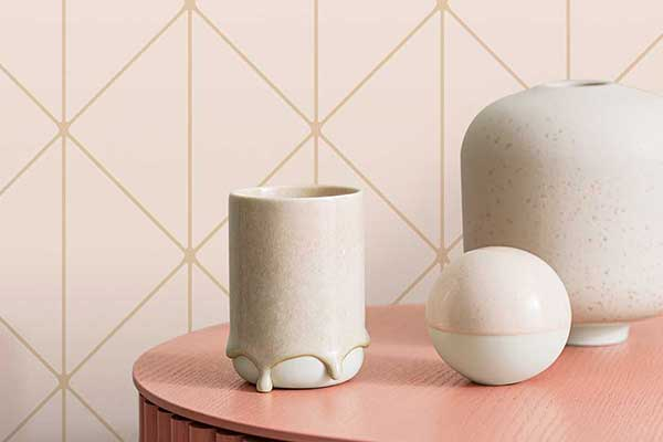 Engblad & Co Diamonds Blush and Gold Wallpaper