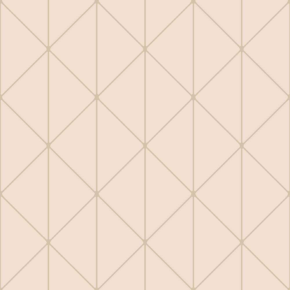 Engblad & Co Diamonds Blush and Gold Wallpaper main image