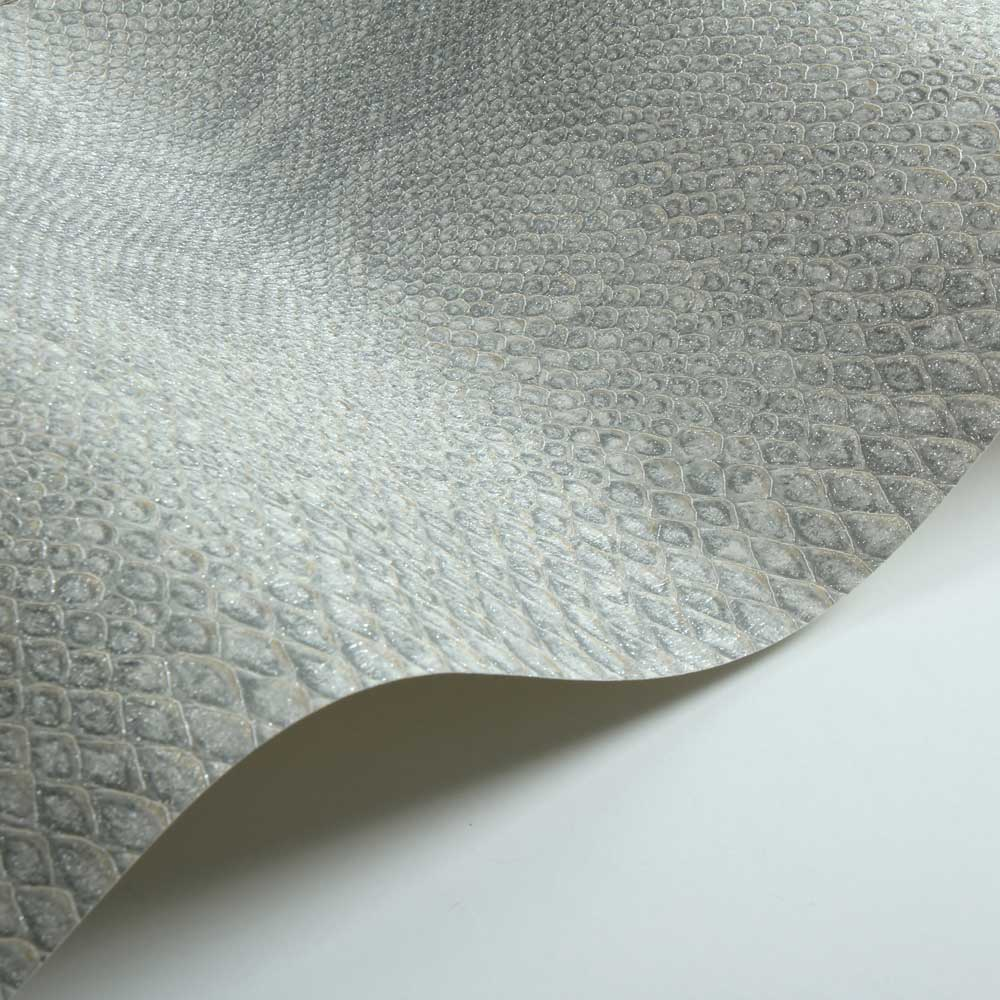 Albany Python Skin Faux Grey Wallpaper - Product code: 88736