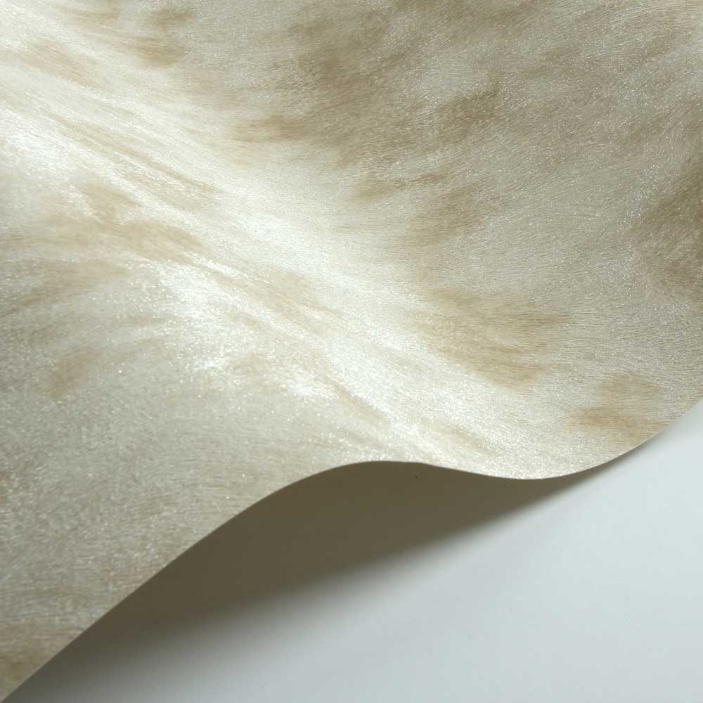 Cow Fur Faux Wallpaper - Silver/ Light Beige - by Albany