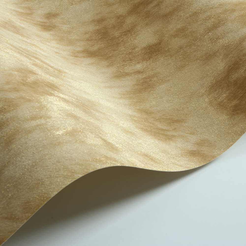 Cow Fur Faux Wallpaper - Gold/ Yellow - by Albany