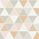Engblad & Co Triangular White, Grey, Pink and Gold Wallpaper - Product code: 8810