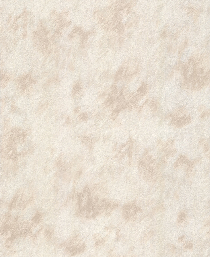 Albany Cow Fur Faux Silver/ Cream Wallpaper main image