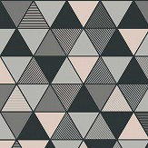 Engblad & Co Triangular Grey, Black and Silver Wallpaper - Product code: 8811