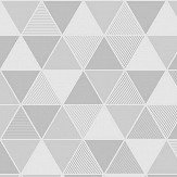 Engblad & Co Triangular Grey and White Wallpaper - Product code: 8812