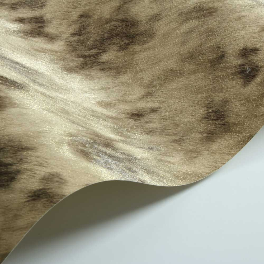 Cow Fur Faux Wallpaper - Gold/ Coffee - by Albany