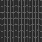 Engblad & Co Petal Black and Grey Wallpaper