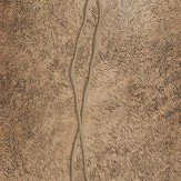 Albany Fur Line Effect Gold/ Dark Brown Wallpaper - Product code: 88748