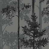 Engblad & Co Pine Grey Green and Black Wallpaper - Product code: 8826