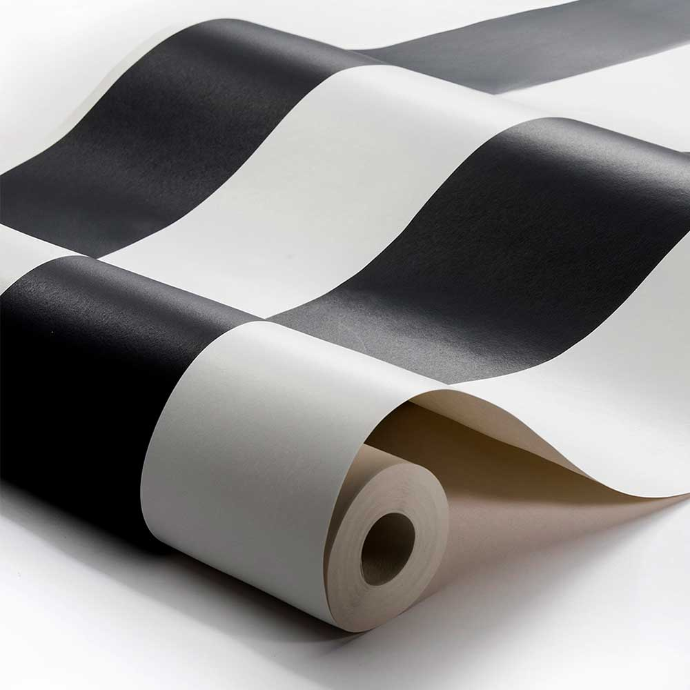 Engblad & Co Stripe M Black and White Wallpaper - Product code: 8843