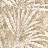Albany Palm Tree Effect Gold/ Beige Wallpaper - Product code: 88755