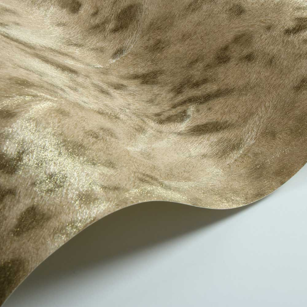 Jaguar Fur Faux Wallpaper - Gold/ Coffee - by Albany
