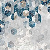 Engblad & Co Graphic Wall Blue and Grey Mural