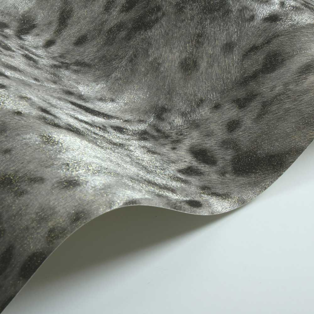 Albany Jaguar Fur Faux Gold/ Grey Wallpaper - Product code: 88757