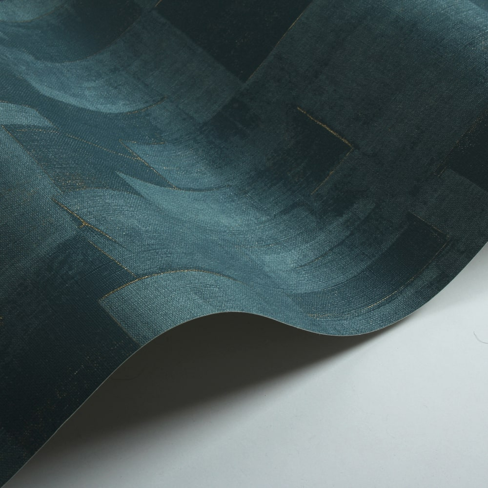 Cubist Wallpaper - Teal - by Threads