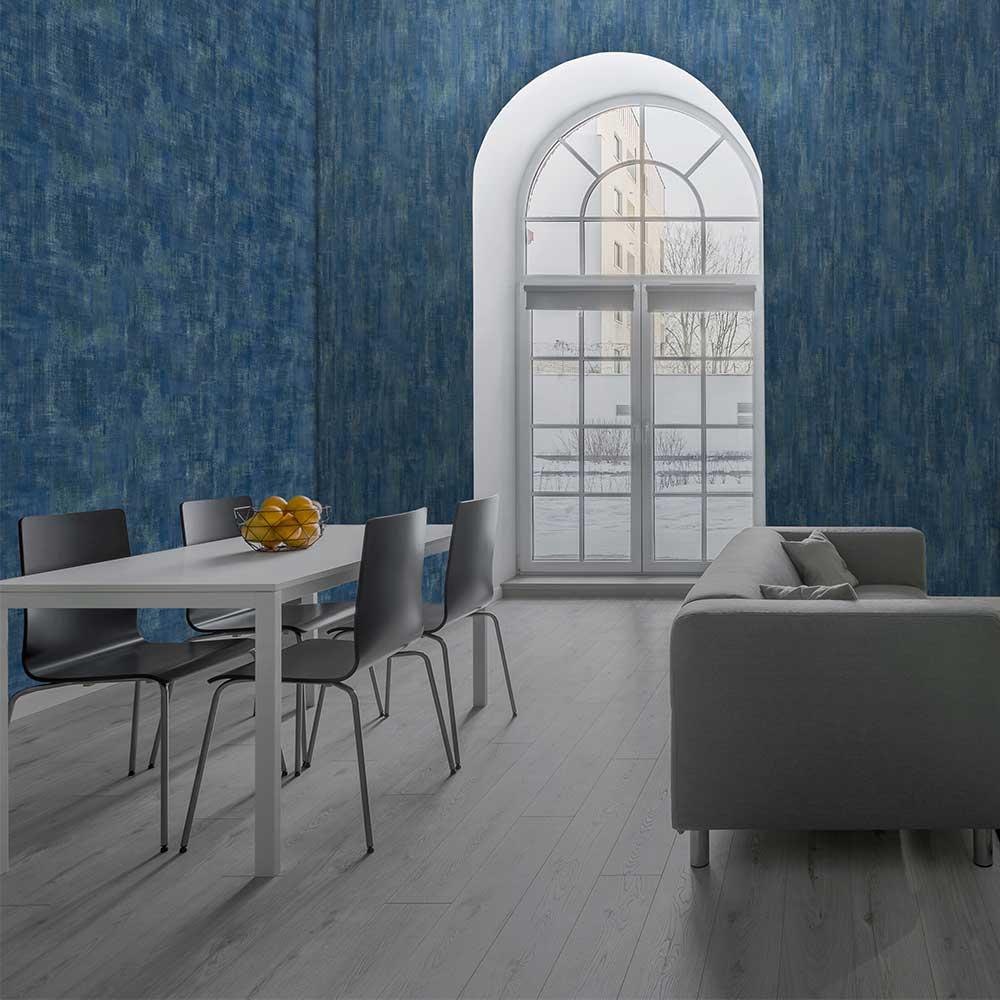 Fallingwater Wallpaper - Indigo - by Threads