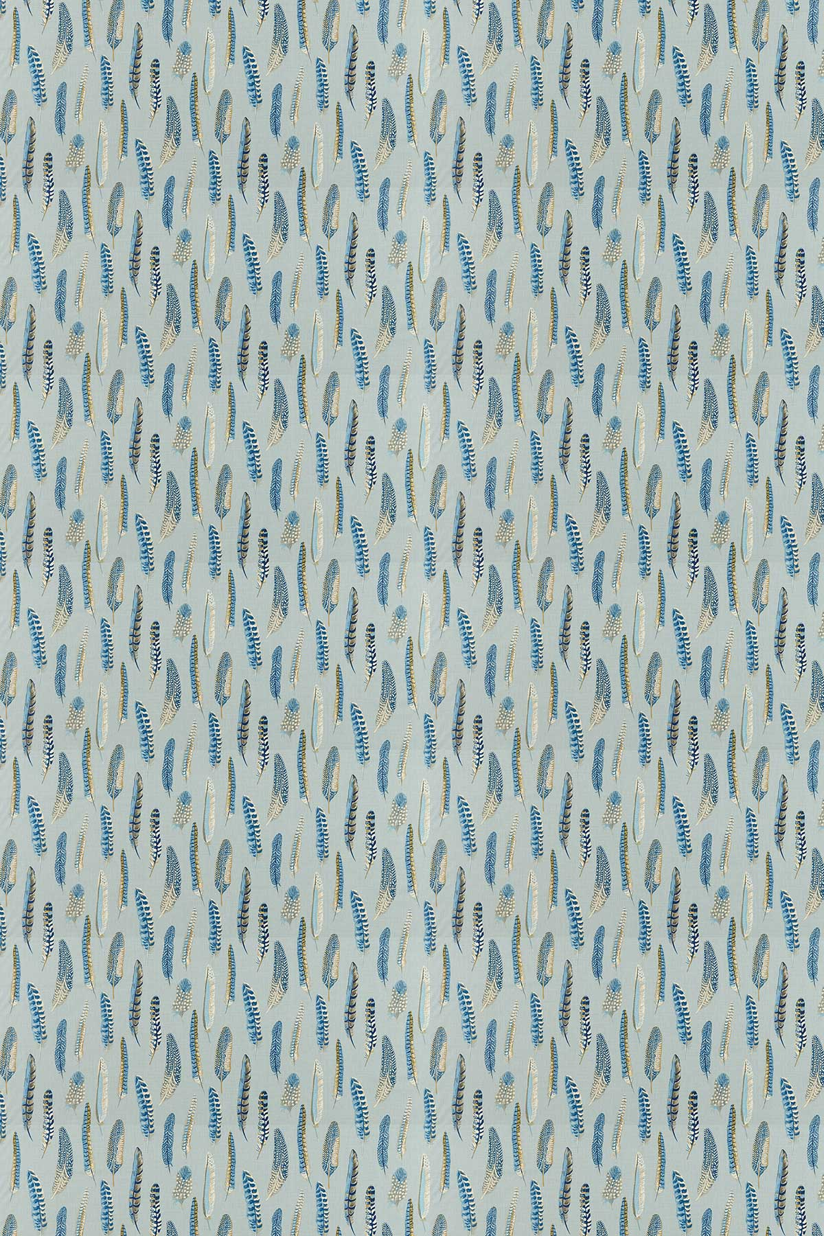 Sanderson Lismore Indigo / Silver Fabric - Product code: 226523