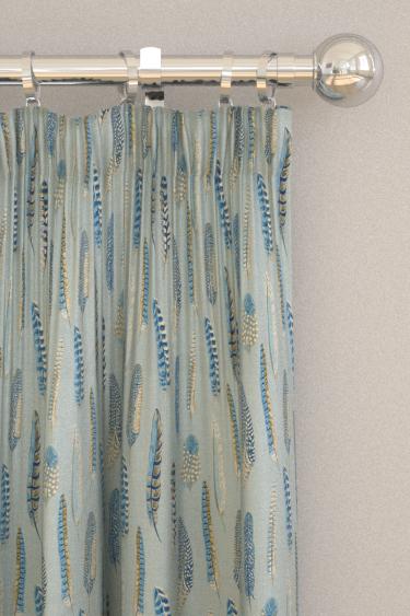 Sanderson Lismore Indigo / Silver Curtains - Product code: 226523