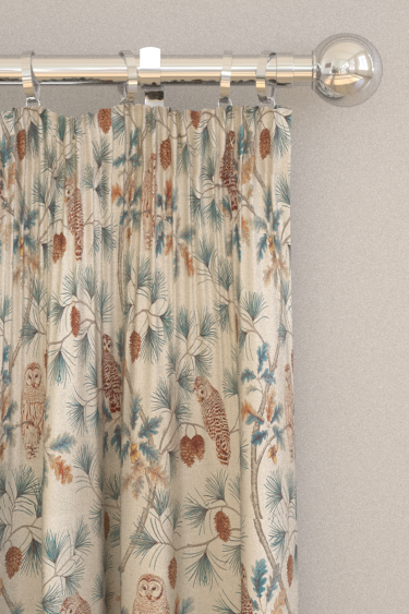 Sanderson Owlswick Teal Curtains - Product code: 226524