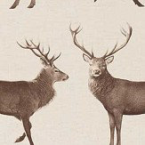 Sanderson Evesham Deer Linen / Chalk Fabric