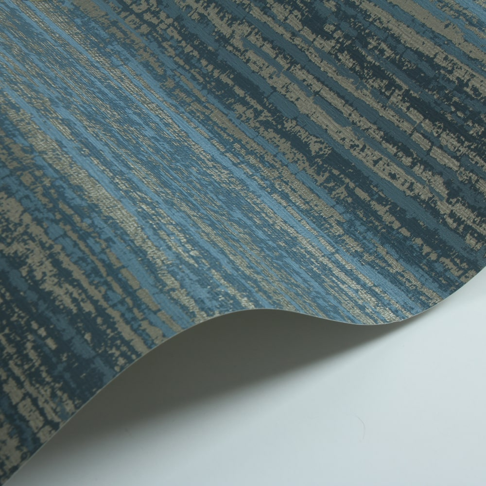 Renzo Wallpaper - Indigo - by Threads