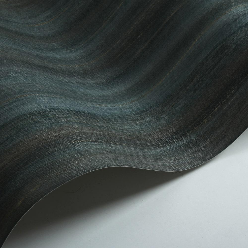 Painted Stripe Wallpaper - Indigo - by Threads