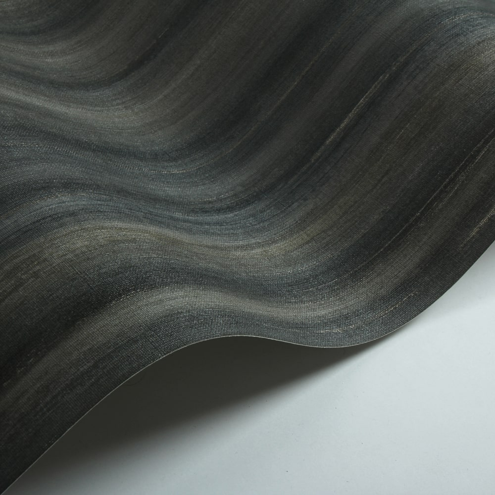 Painted Stripe Wallpaper - Charcoal - by Threads