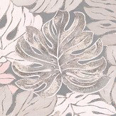 Galerie Jungle Print Grey and Pink Wallpaper
