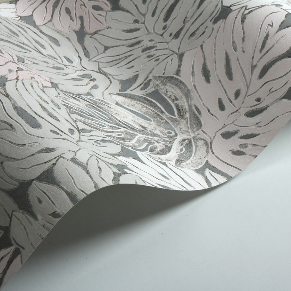 Galerie Jungle Print Grey and Pink Wallpaper - Product code: 30433